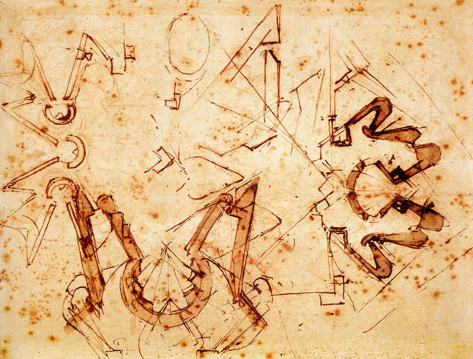 michelangelo architectural drawings 50320 infovisual